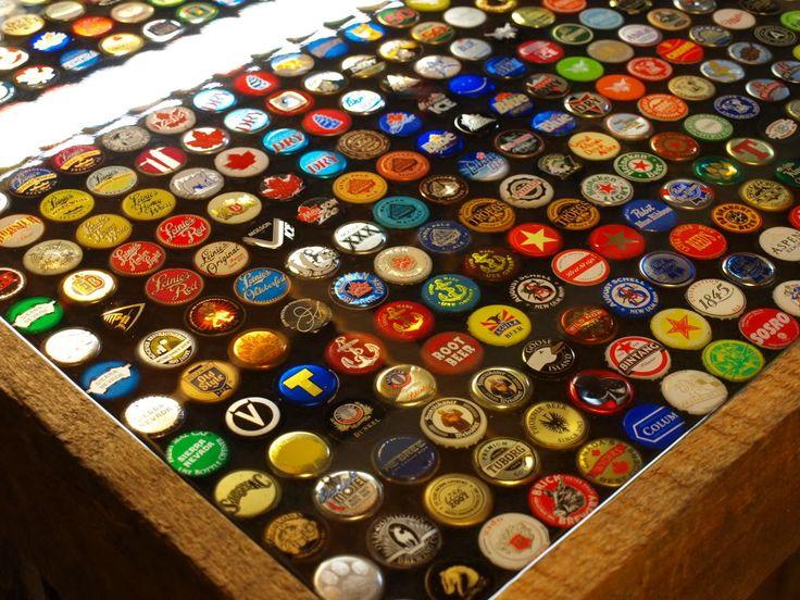 Bottle Cap Bar!!! Inspiring