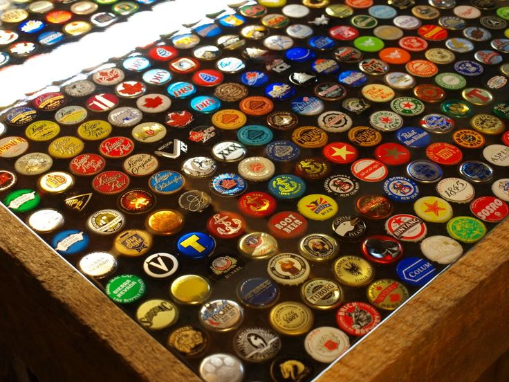35 best images about the bar plans on pinterest beer for Beer cap bar top
