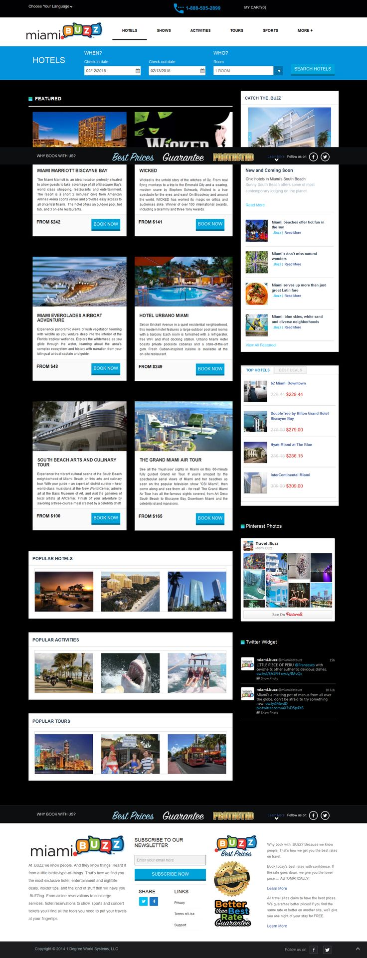 Miami.buzz - In Miami provides hotel reservations functions, luxury accommodations, entertainment, live events. flight tour, Miami tourism packages,  sports and concert tickets you'll find all the tools you need to put your travels at your fingertips.  http://vividinfotech.com/