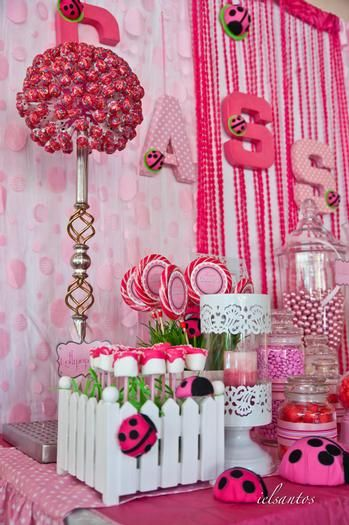 Pink Ladybug Party--somebody throw me a surprise party like this please :)