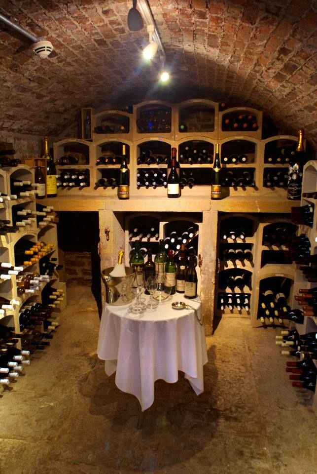 Our fabulous wine cellar.
