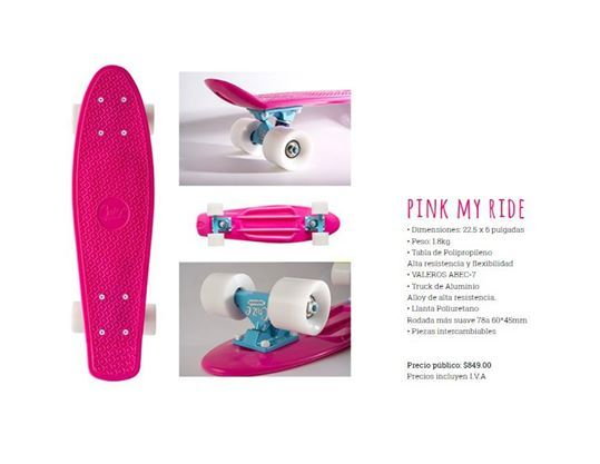 Throw away the glitter and the spray; it's no time for high maintenance. The kicks are ready and the board needs riding - #pinkmyride #cruzeskateboards