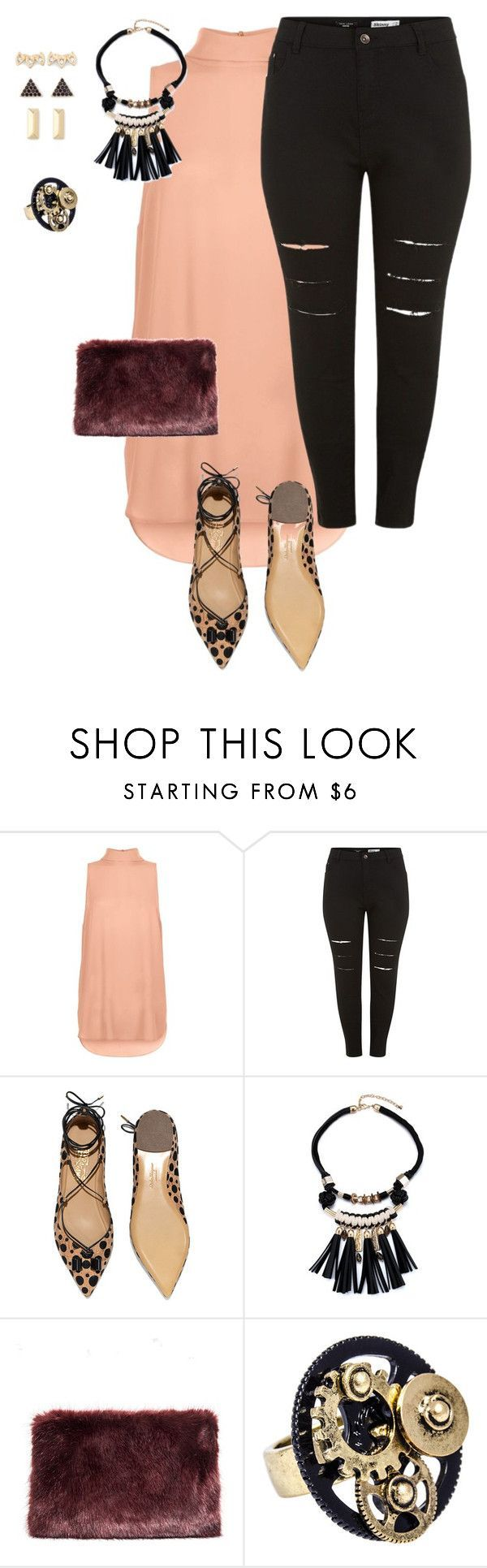 """""""plus size simple and pretty night out"""" by kristie-payne ❤ liked on Polyvore featuring Salvatore Ferragamo, Stella & Dot, women's clothing, women, female, woman, misses and juniors"""