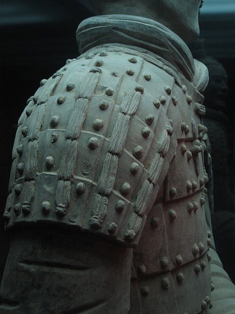 Terracotta warrior's armour by ajft, via Flickr