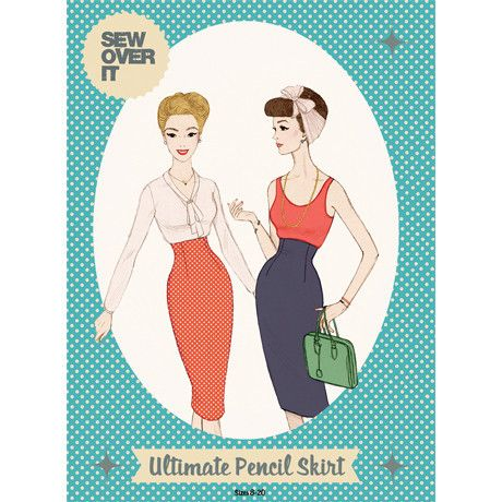 Ultimate Pencil Skirt by Sew Over It: 2m/115cm, 1.3m/140cm, 30cm zip