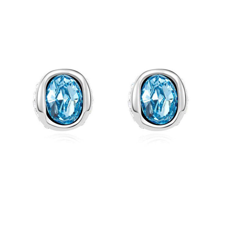 Austrian Crystal Earrings Girls Earring Piercing Jewelry Ear Jewellery Cheap Earrings 3 Color
