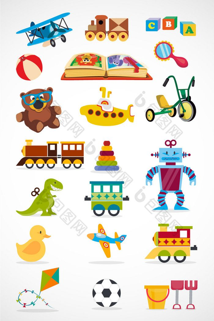 Cartoon Children S Toy Vector Png Images Ai Free Download Pikbest Childrens Toy Graphic Design Resources Kids Design