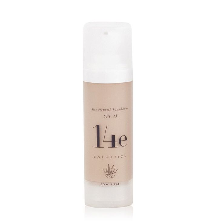 ALOE NOURISH FOUNDATION<br> SPF 23. Medium, buildable coverage while feeling totally weightless, satin semi-matte finish, 30ml <br> [ 5 shades ]