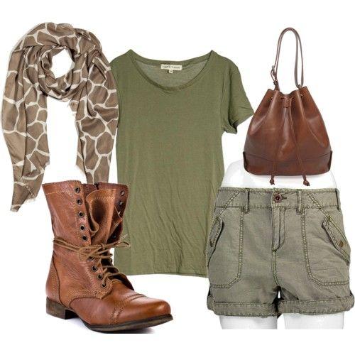 Buscas un look safari, en H & M podrás encontrar una camiseta muy parecida  por - Best 20+ Safari Outfits Ideas On Pinterest Fall Clothes 2014