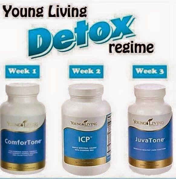 Young living DETOX week 1 - comfortone. Week 2 - ICP. Week 3 - JuvaTone.