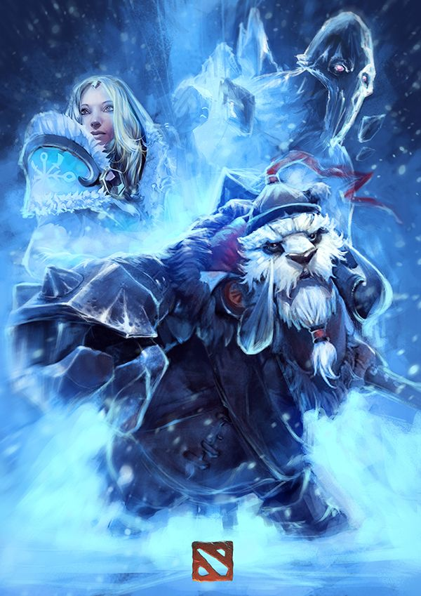 #Dota2  Crystal Maiden, Ancient Apparition and Tusk