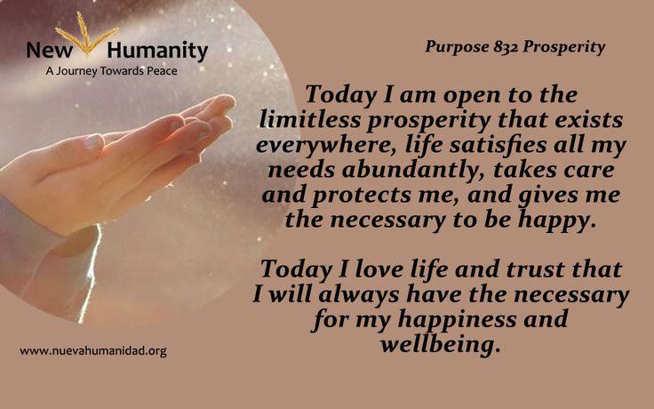 Purpose 832 Prosperity