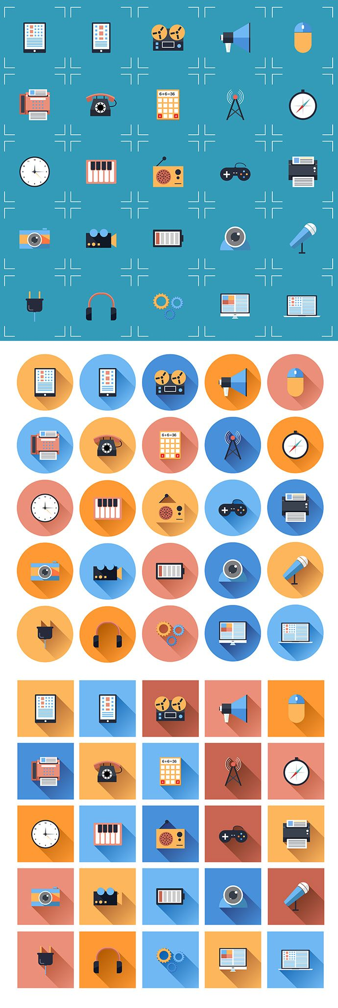 Free Flat Icon Set 1 | www.greatvectors.com