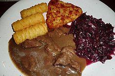 Hirsch - Ragout mit Rotweinsoße (Rezept mit Bild)   Chefkoch.de