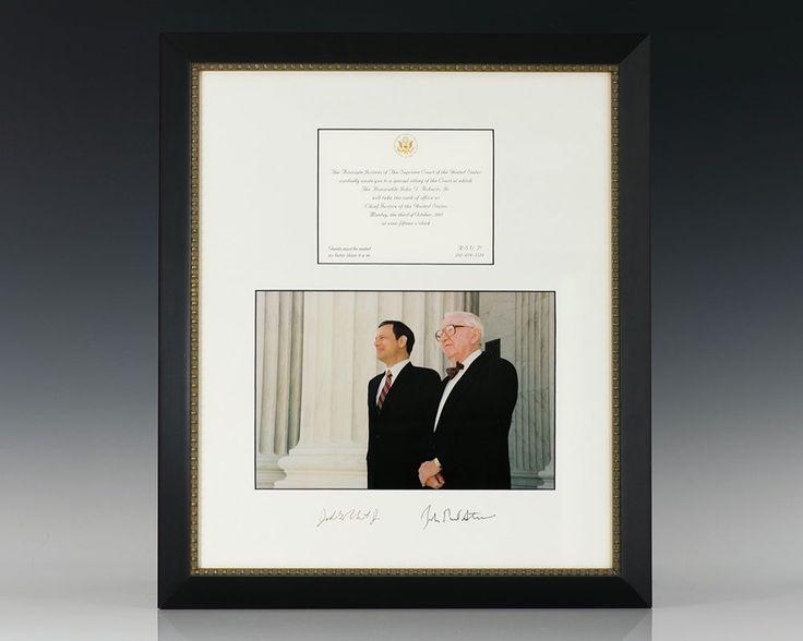 Chief Justice John G. Roberts and Associate Justice John Paul Stevens Signed.