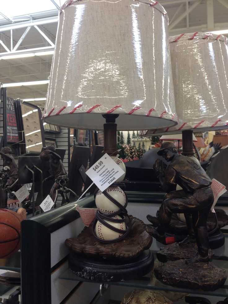 Baseball Lamp From Hobby Lobby