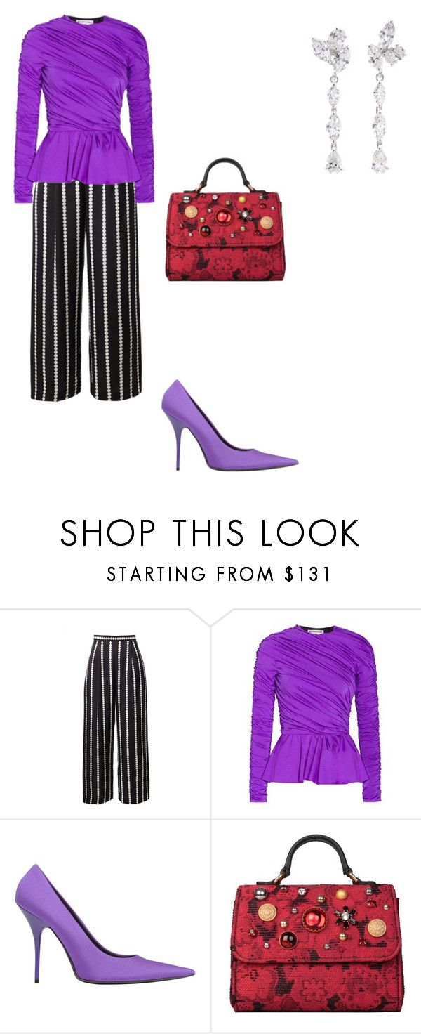 """""""Untitled #5"""" by corina-stanculet ❤ liked on Polyvore featuring Balenciaga, Dolce&Gabbana and Anyallerie"""