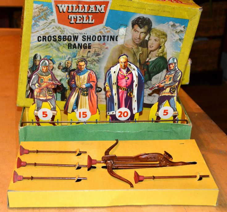 Vintage 1958 Boxed Dibro Toy Game William Tell Crossbow Shooting Range TV Show | eBay