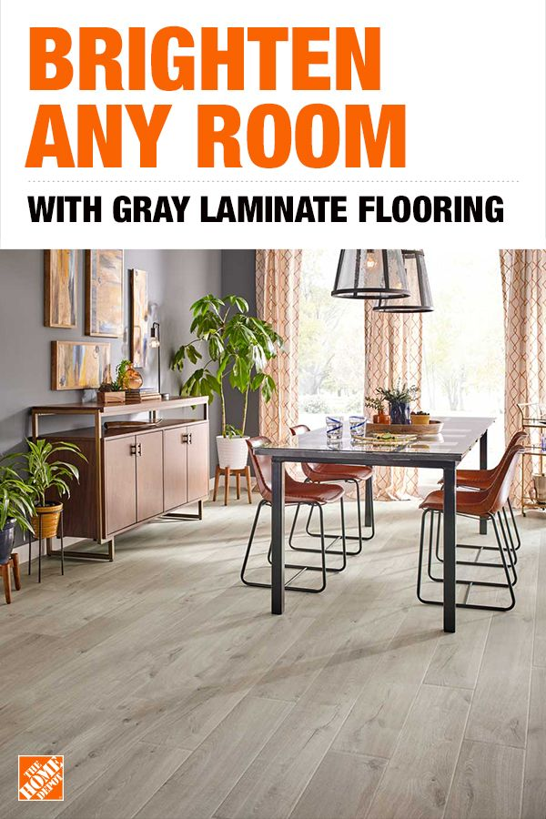 2511316d0d096 Gray laminate floors are both affordable and stylish at The Home Depot.  Create a lasting