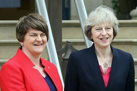 "Relief as Theresa May and Arlene Foster finish scissoring out a deal -- ""It was no time for hammering,"" confirmed the Prime Minister, ""we had quite enough of a hammering in the election, which we still, I might add, won."" ""Although I generally play the flute,"" Ms Foster demurred, ""on this occasion, I was of course prepared to put the interests of the Ulster people... --  -- http://rochdaleherald.co.uk/2017/06/26/relief-as-theresa-may-and-arlene-foster-finish-sci"