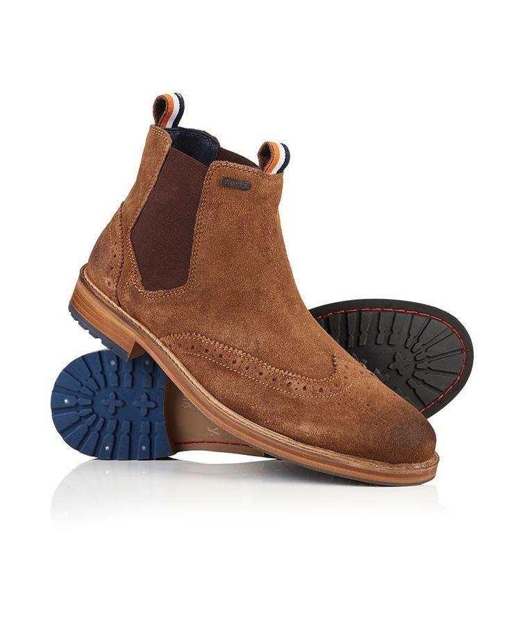 SUPERDRY | Bottines en Cuir Marron - Homme - Style Brogue et Chelsea Boots…