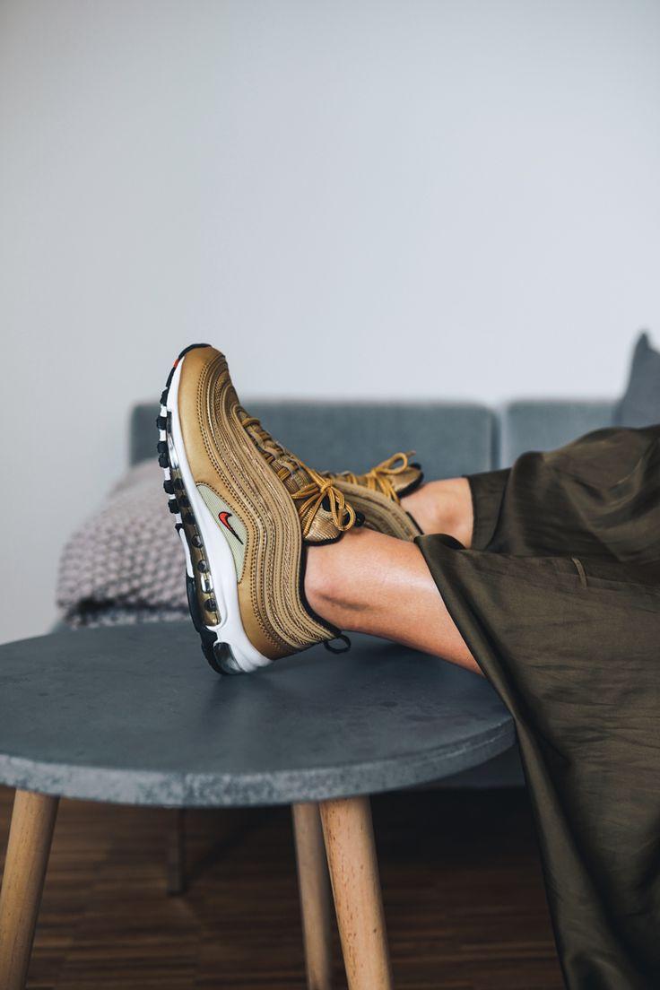 Nike Air Max 97 gold #airmax #am1 #nike