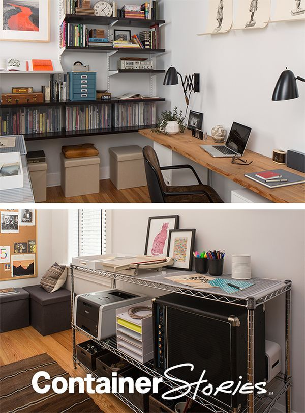 Wonderful Poppin, Bisley And Elfa Add Seat, Storage And More For This Complete Office  Makeover