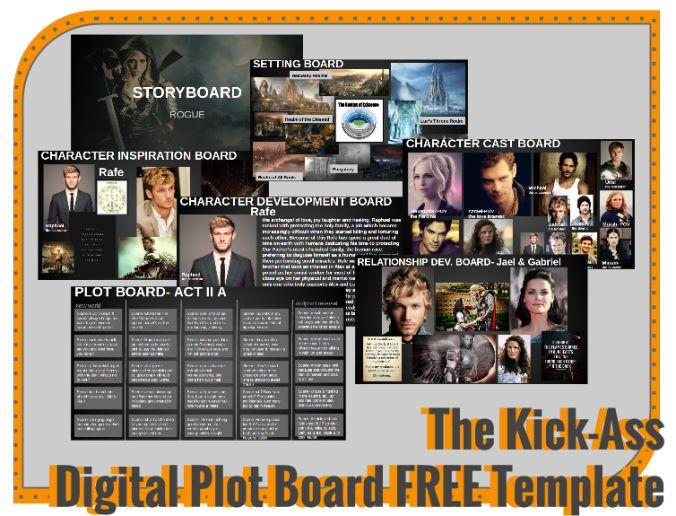 Kick-Ass Digital Plot Board Template on wordnerdsunite.com