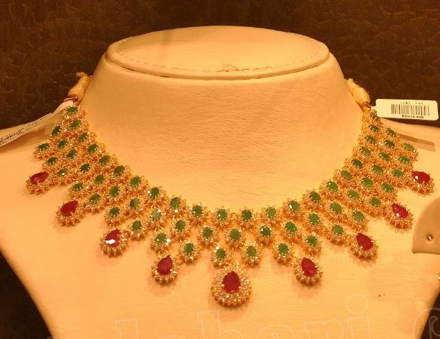 Floral Diamond and Gemstone Necklace