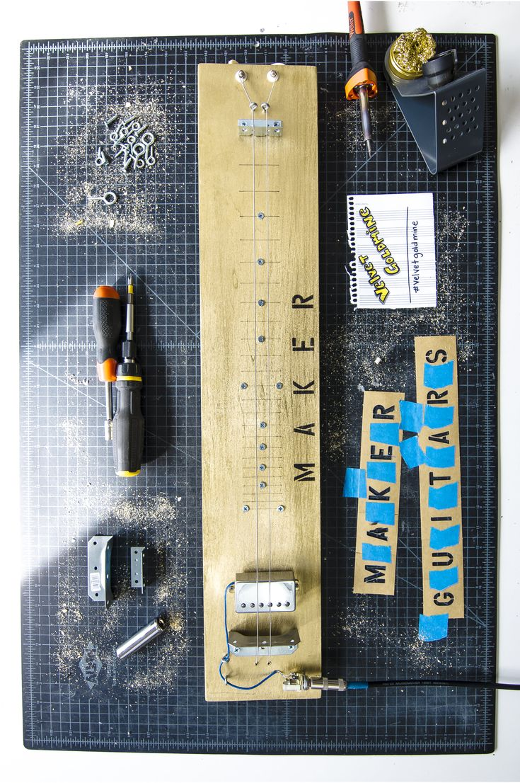 The Velvet Goldmine Maker Guitar is a handcrafted instrument, made right here in South Orange, NJ. It is a ...