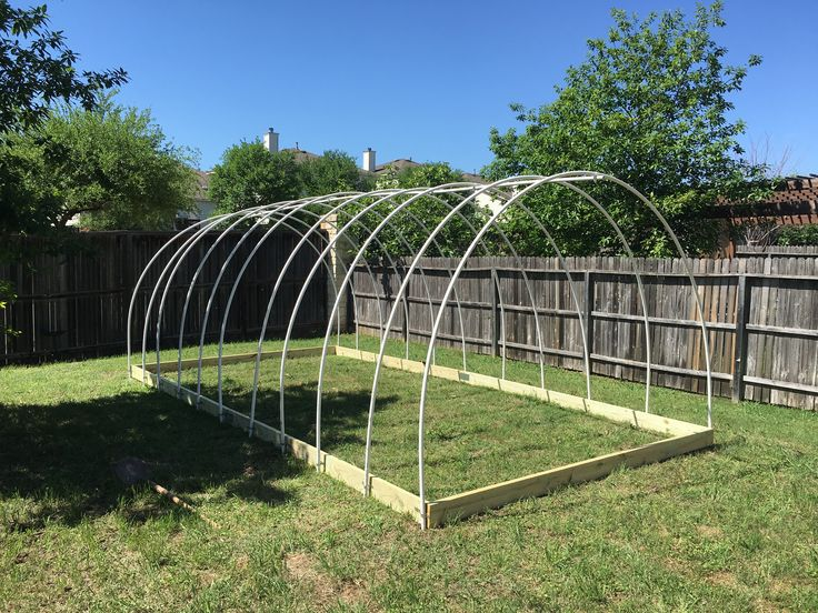51 best greenhouse designs images on pinterest greenhouses green 20 x10 hoop house frame malvernweather Choice Image