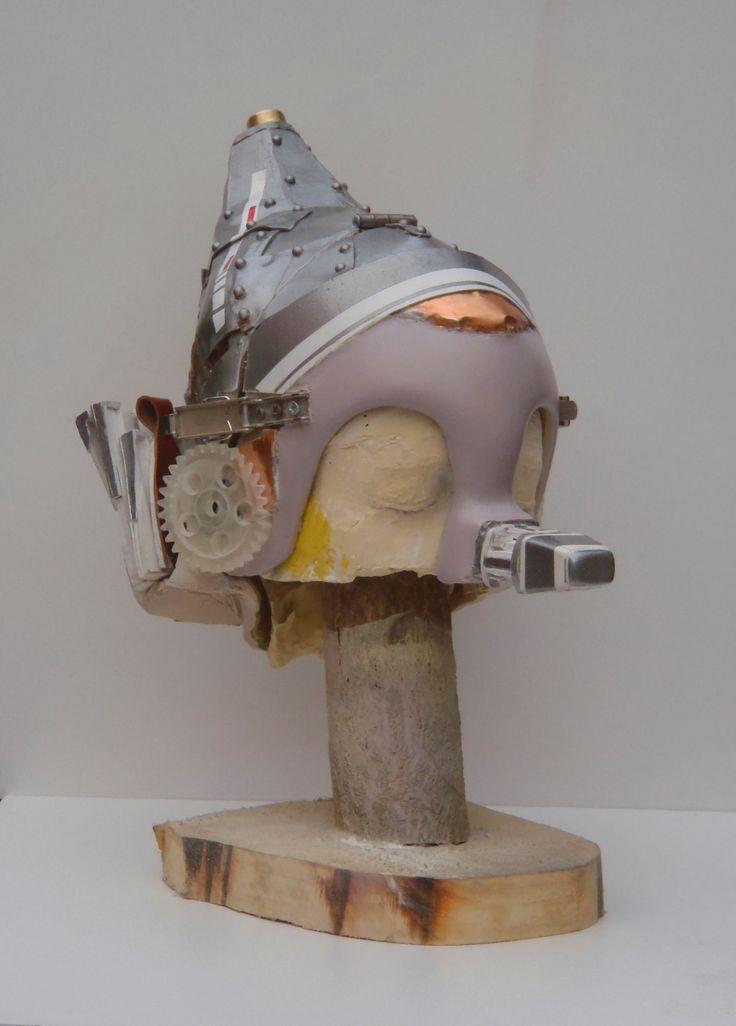 Caschetto/maschera di Pinocchio steampunk con orecchie da asino e naso allungabili