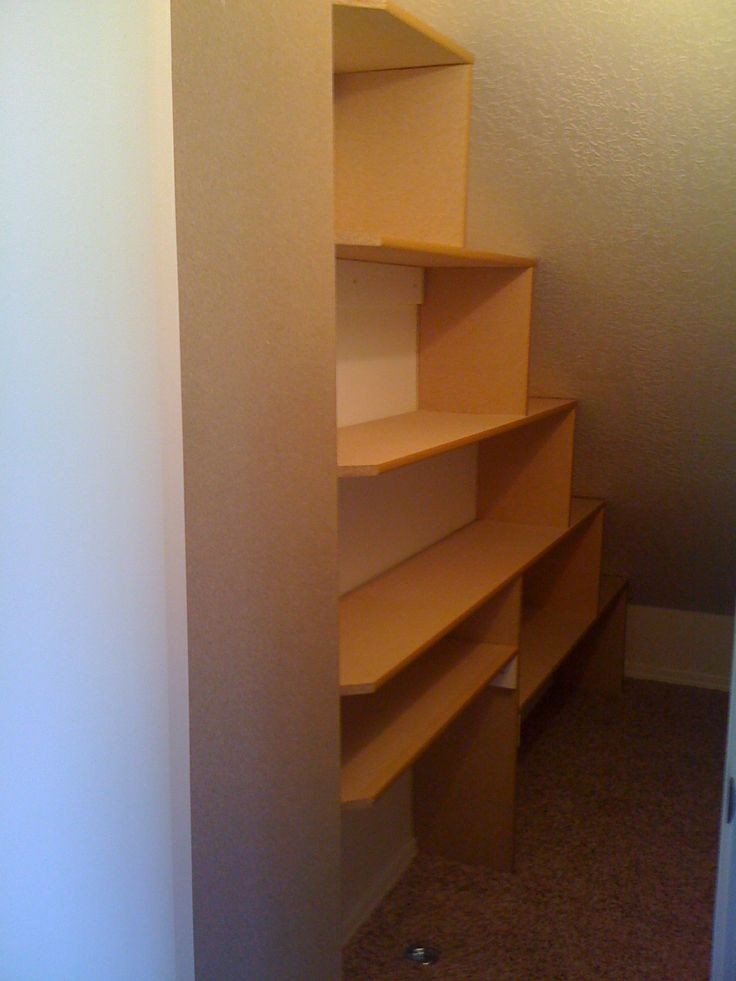 how to build storage stairs