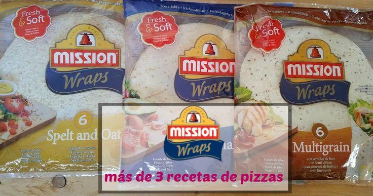 Más de 3 #recetas de #pizzas saludables y sencillas de hacer con los panes planos de @mission_wraps   http://blgs.co/NB52O9