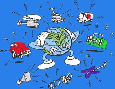 """CAUSAS:    Principales fuentes de contaminación sonora  , Denominada """" contaminación invisible""""  , son la circulación de los vehículos, ..."""