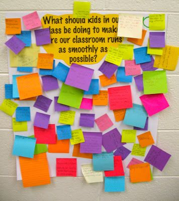 First Day of School Post it Note Activity