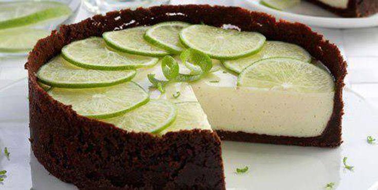 Torta de limón y chocolate (sin cocción)                                                                                                                                                                                 Más