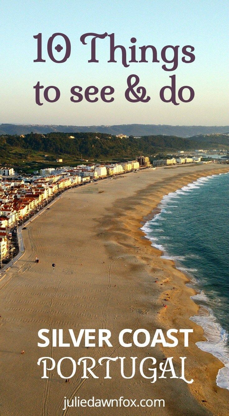10 Things to see and do in the Silver Coast area of Central Portugal. Also known as the Costa da Prata, this beautiful region includes beautiful beaches, weird rock formations, fortress prisons, wine estates, nature reserve island and medieval towns. Find out why you should add it to your Portugal travel itinerary.