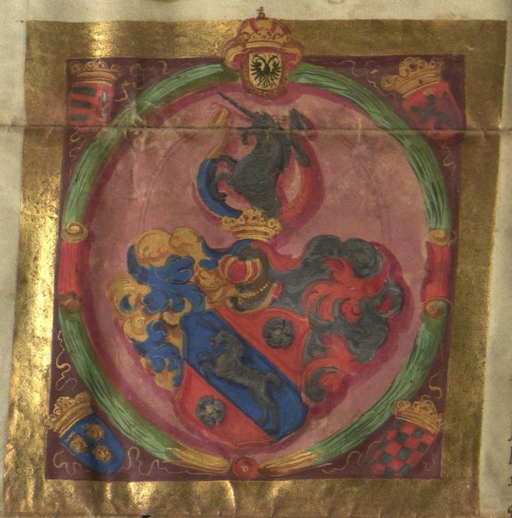 1651 III. Ferdinánd magyar király -  címer Pente Miklósnak  Bécs, 1651. augusztus 18.