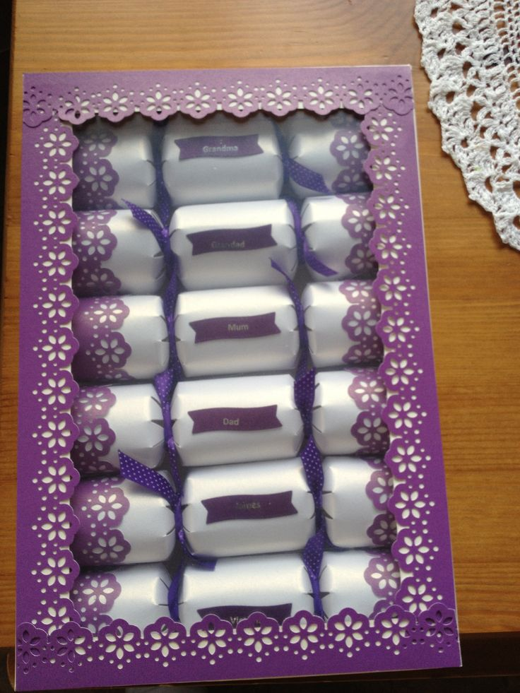 Celebration crackers for any occasion, in a design and colour of your choice. Boxed sets or singles made to order
