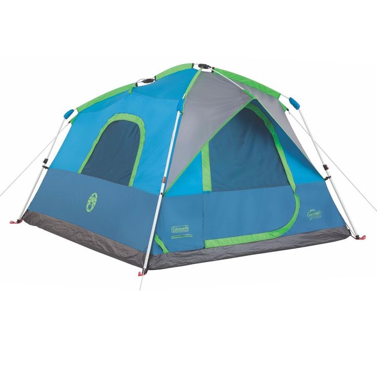 Coleman 4 Person 8x7 Family Camping Instant Cabin Tent w/ WeatherTec