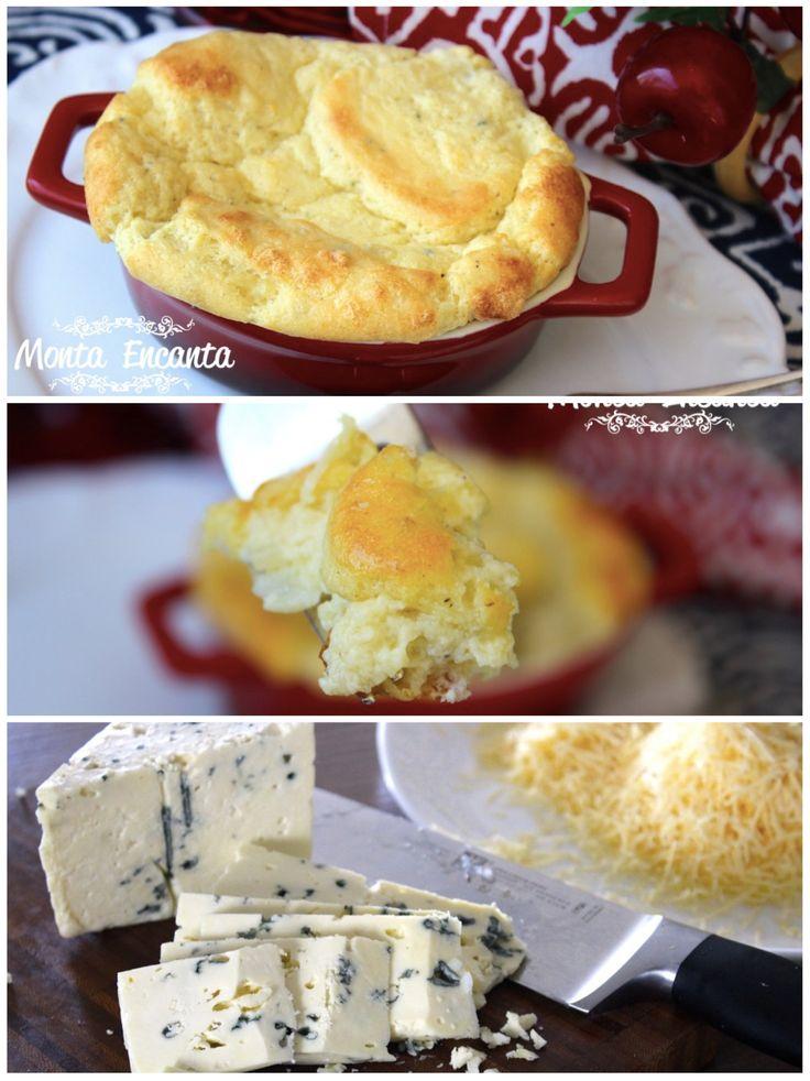 Sufle de queijos, é muito amor! Seguindo o passo a passo, não tem erro e não tem quem não ame! Uma delícia gostosa de fazer