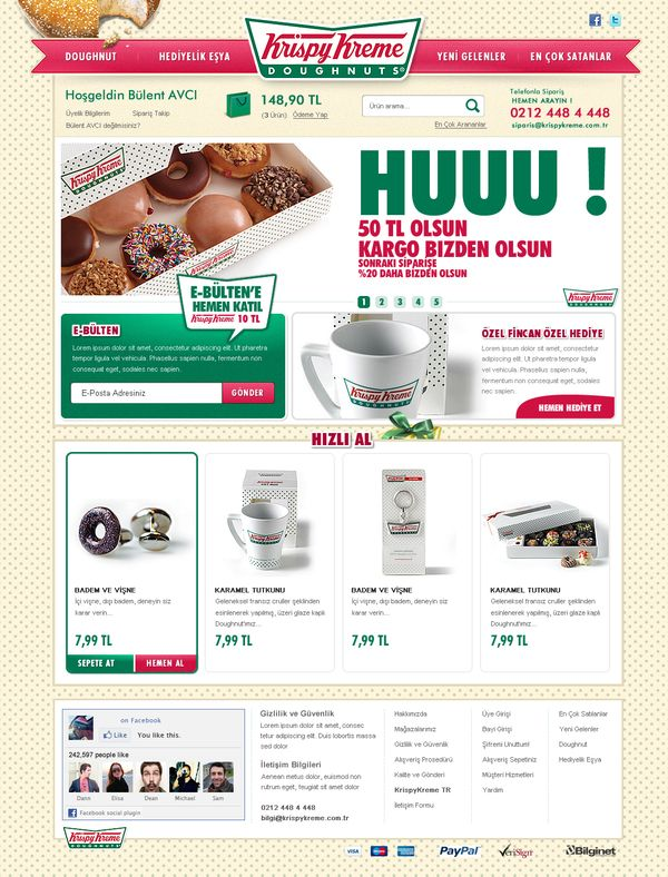 KrispyKreme Turkey E-Commerce