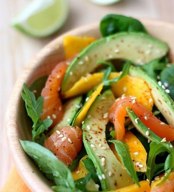 Salade à la mangue et avocat