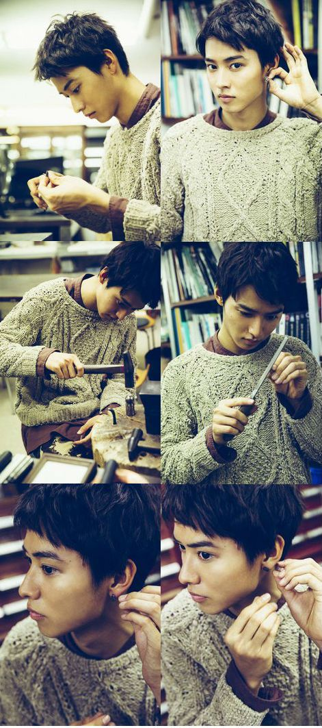 Kento Yamazaki, making silver earrings, The TelevisionCH, 2014 https://www.youtube.com/watch?v=9bxi2Q1fbOo