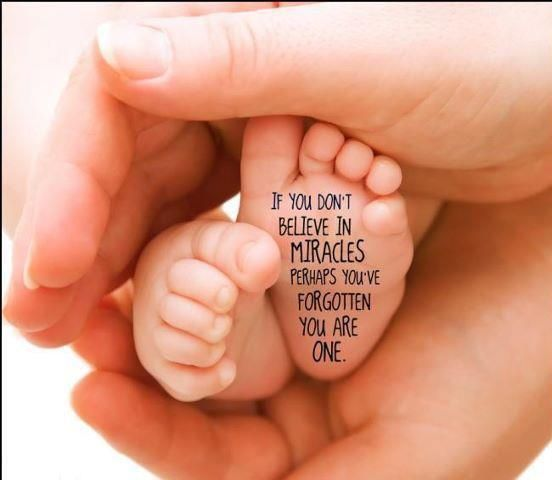 Quote on babys foot-i would choose a different quote though