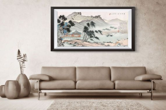 Chinese traditional landscape and water painting reprint