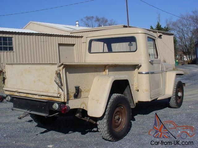 old Willys trucks | ... WILLYS 4X4 PICK UP TRUCK 90K ACT. MILES, 6CYL. 4 SPEED COOL OLD TRUCK