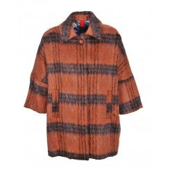 Femme by Michele Rossi Orange Check  Coat