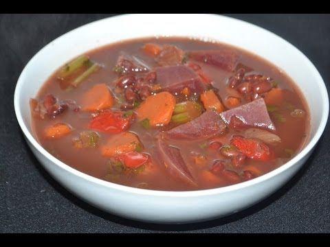 Sopa para bajar el colesterol, para limpiar el colon, para la anemia y p...